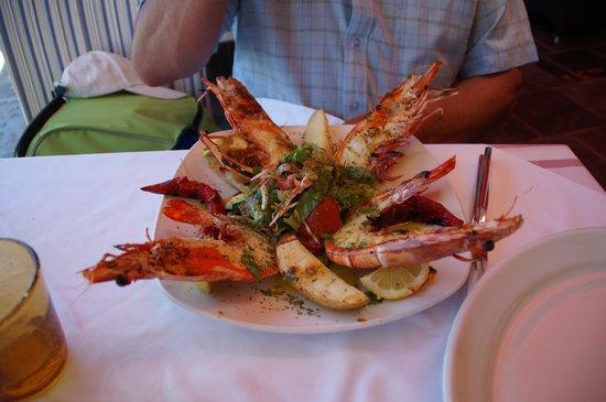 Iberostar Creta Marine : manger des fruits de mer....sur le port de rethymnon