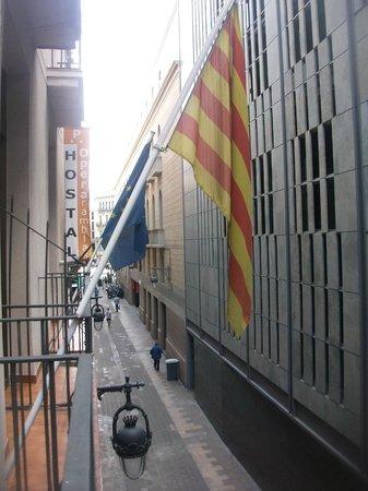 Operaramblas : Vista de las Ramblas desde el balcón