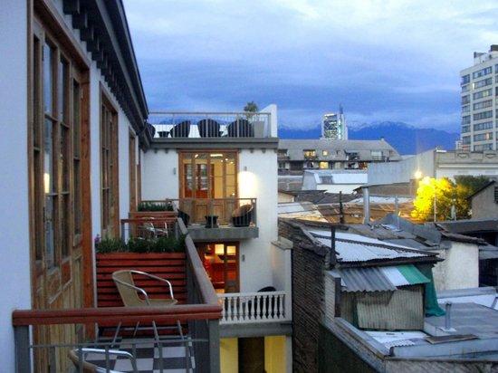 Hotel Loreto: Vista dos Andes da varanda do quarto 305
