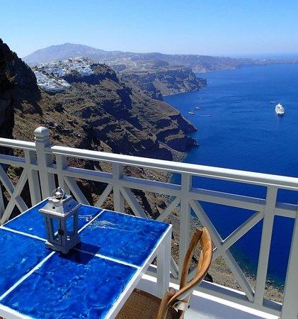 Iconic Santorini, a boutique cave hotel: The Cliff Suite balcony