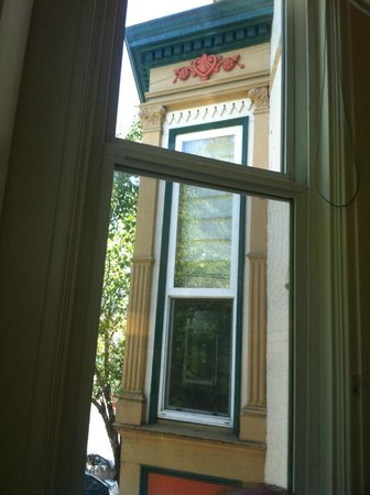 Healdsburg Inn - A Four Sisters Inn: out the side of our bay window