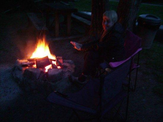 Whitney Bridge: campfire pit