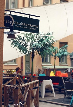 City Backpackers Hostel: Backyard