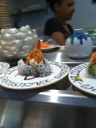 Yazu Sushi: Conveyor :) One of the nicer dishes.
