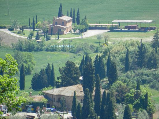 Terrazza Val D'Orcia : The view from our table
