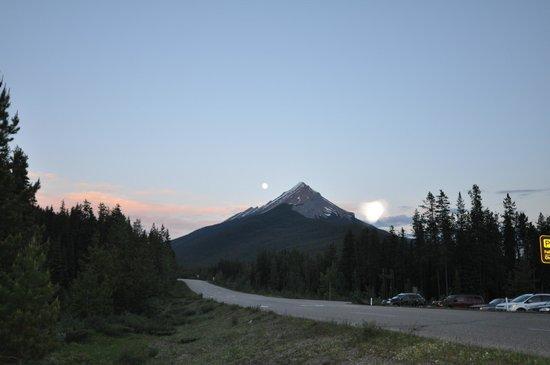 Sunwapta Falls Rocky Mountain Lodge: View from across the street- Bluff Hike entrance