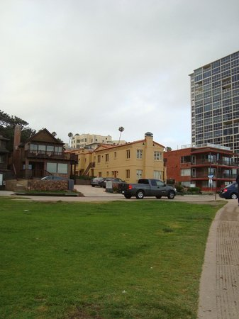 Pantai Inn: View from the park across the street