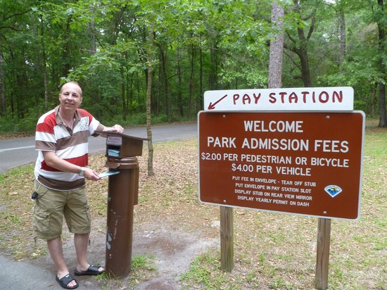 Devil's Millhopper Geological State Park: The trustworthy pay station