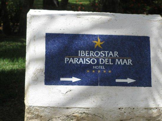 Iberostar Paraiso del Mar: Hotel Marker