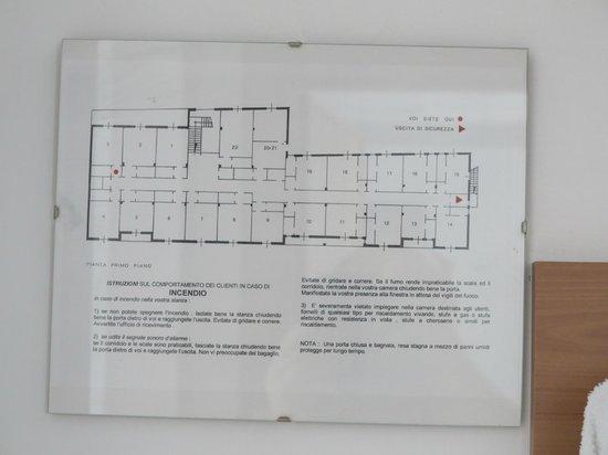 La Pineta: Zimmerplan
