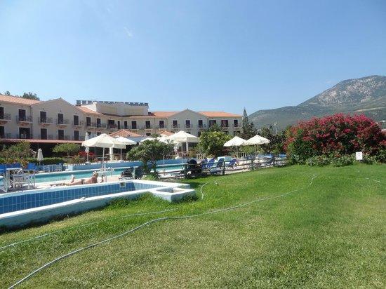 Karavados Beach Hotel: View from gardens