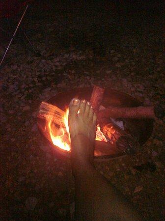 Yogi Bear's Jellystone Park: The firepit beside my cabin!