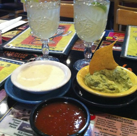 Two of my favorites from La Isla  Queso & Guacamole