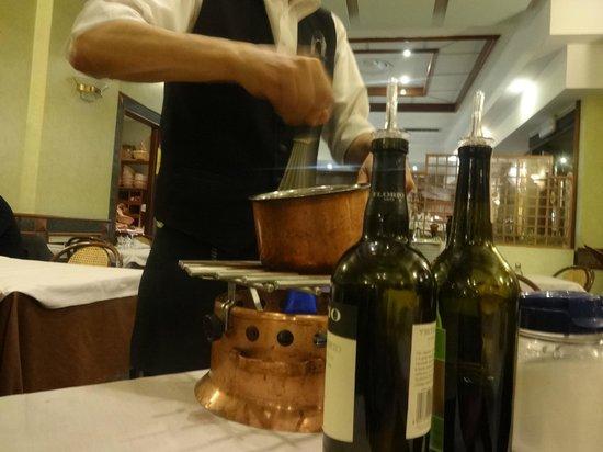 Il Focolare: making the zabaglione