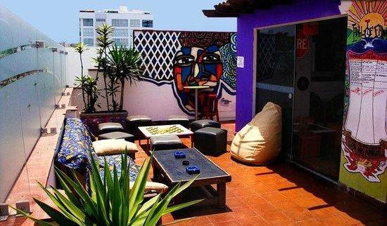 Cirque Hostel: Terraza