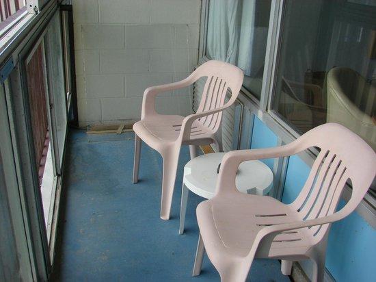 """Islander Motel : Enclosed """"patio"""" off of room"""