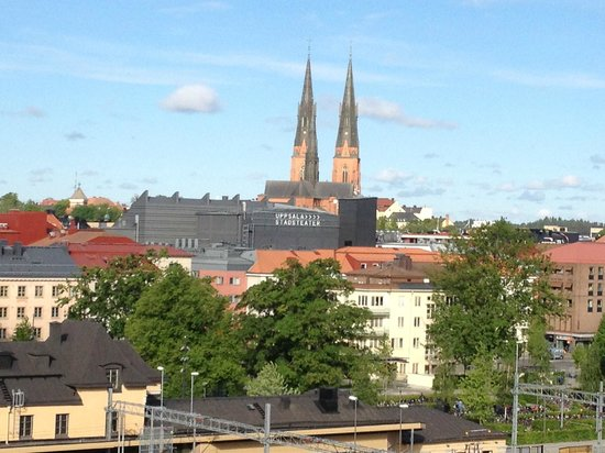 Radisson Blu Hotel Uppsala: View over Uppsala from top floor of hotel