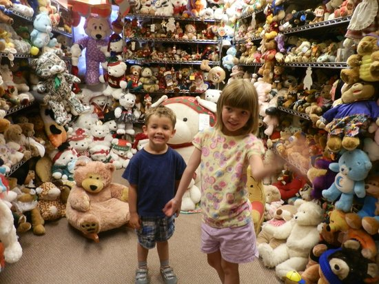 Teddy Bear Town : kid with the just some of the bears!!!