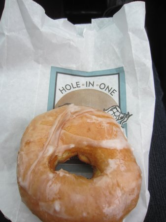 Hole In One: Glazed donut