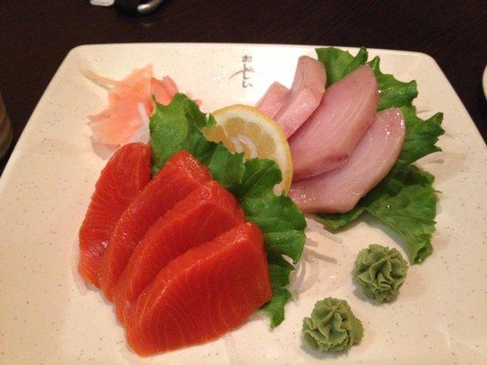 Junsei River Japanese : Salmon and Tuna Sashimi
