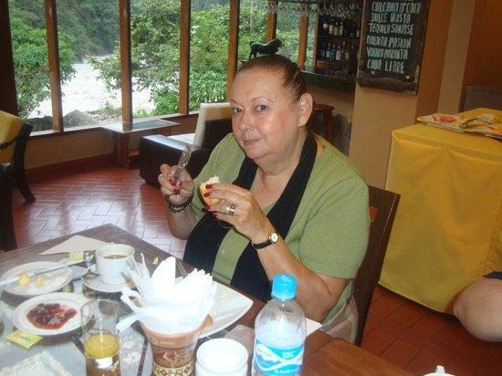 Hostal El Santuario : Tomada desde el Comedor mientras tomabamos el Desayuno.