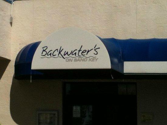 Backwater's on Sand Key: Sign set