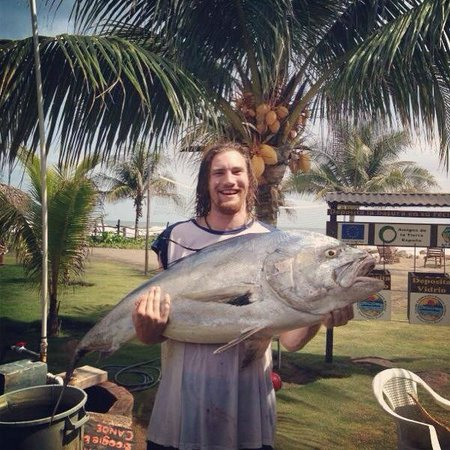 Monty's Beach Lodge: Rooster Fish Caught from Monty's, Thanks Jerry