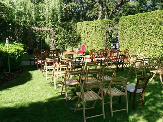 Green Gables Inn: Wedding set up