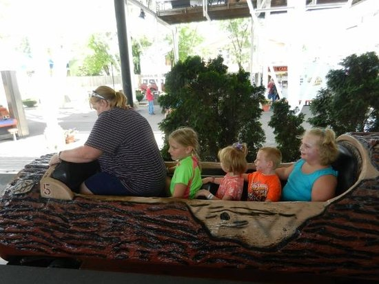 Indiana Beach Amusement & Waterpark: log ride (everyone, but 2 year old