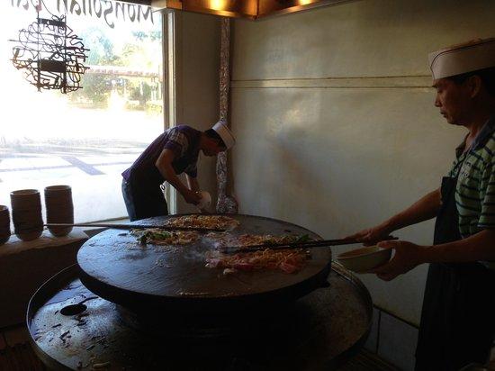 Sum's Mongolian Bar-B-Que Restaurant: the cooks