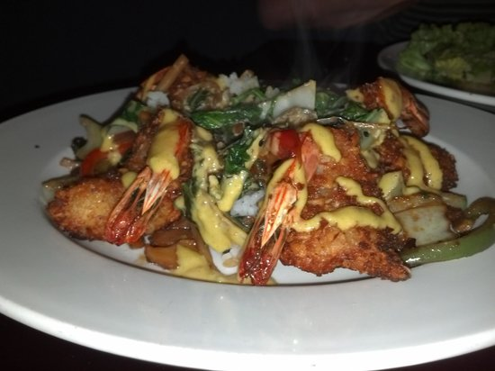 Saltwater Grill: Ginny's shrimp dish.