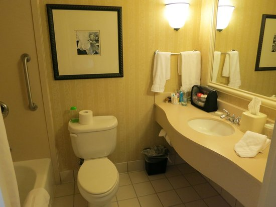 Hilton Garden Inn San Francisco Airport North: Bathroom room 523