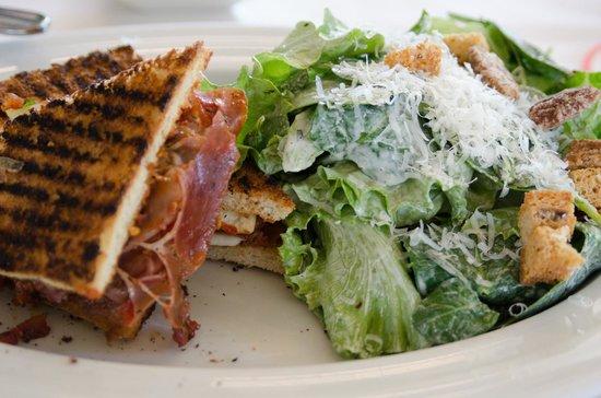 Il Sogno Osteria: My sandwich and salad. YUMMY!