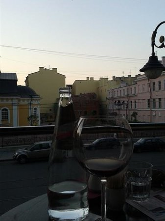 Probka Bar : View from table at 11pm, white night