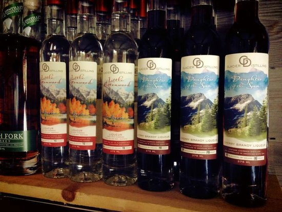 "Glacier Distilling Company: ""Little Cottonwood"" and ""Daughter of the Sun"" made with Montana cherries."