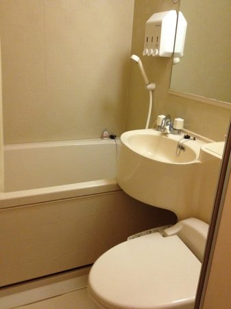 Toyoko Inn Asakusa Kuramae Kaminarimon : I took pictures of only the bathroom because I was absolutely fascinated with the heated toilet!