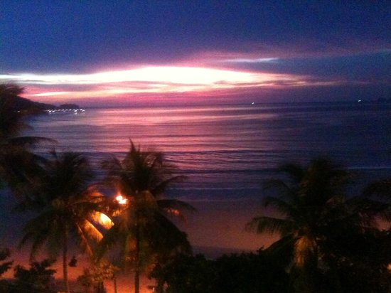 Absolute Sea Pearl Beach Resort & Spa : View from Ocean view room at Sunset