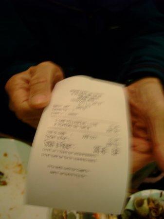 Cafe de Turin: bill