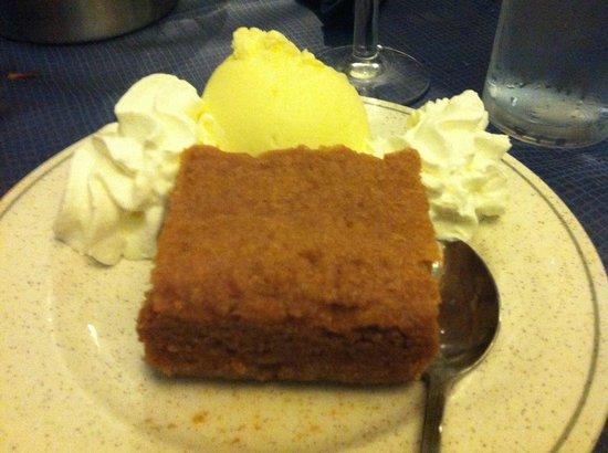 Christo's Greek Taverna: Revani: Honey Sponge Cake