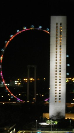 Fairmont Singapore: Singapore flyer from room