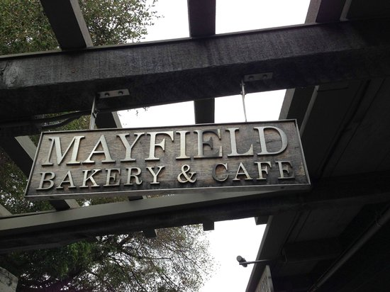 Mayfield Bakery & Cafe: Name plate