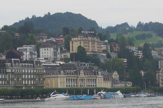 Art Deco Hotel Montana Luzern: Montana from a steamer
