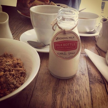 Habitat Cafe: the milk that was served with the granola