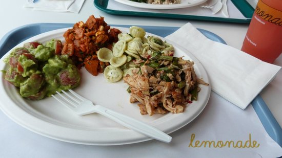 Lunch at 'Lemonade' - 4 scoops of divine salad!