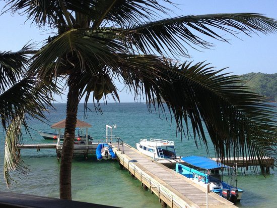 Blue Waters Inn : Pier to board boats & with covered lounge area