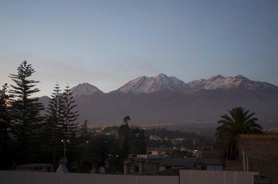 Hostal El Remanso: Vue de la terrasse