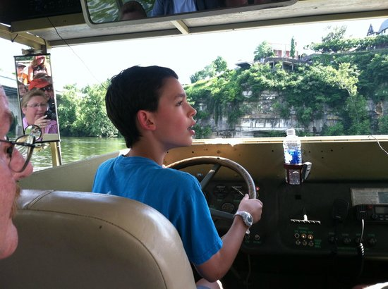 "Chattanooga Ducks: Our 10 year old grandson driving the DUCK.  He told us, ""I had a blast""!!"