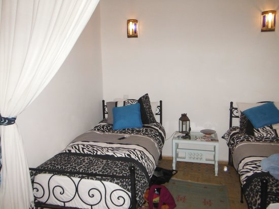 Riad Remmy : Twin room on the first floor, with private bathroom