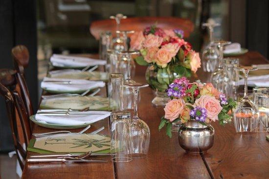 Royal Malewane: Lunch table