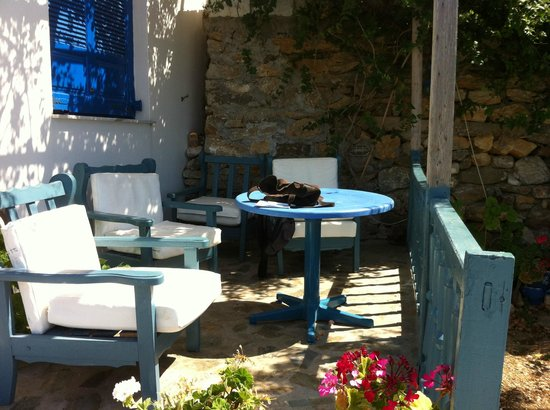 Pension The Big Blue: terrasse